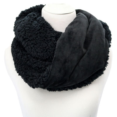 Cuddl Duds Double Plush Velour to Faux Sherpa Infinity Scarf