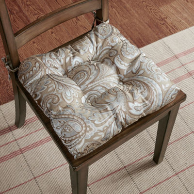 Madison Park Whitman Jacquard Set of 2 Square Chair Pads