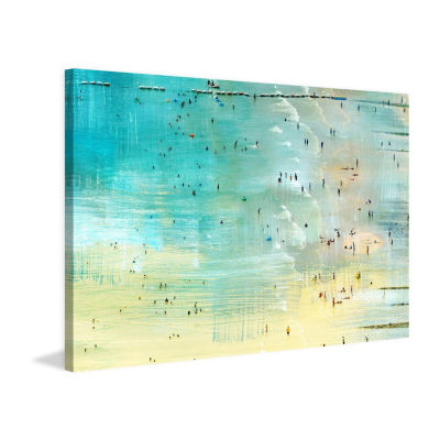 Specks in the Water Painting Print on Wrapped Canvas