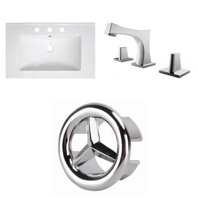 30-in. W 3H8-in. Ceramic Top Set In White Color -CUPC Faucet Incl.