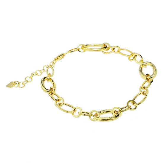 Sechic 14K Gold 7.5 Inch Hollow Link Link Bracelet