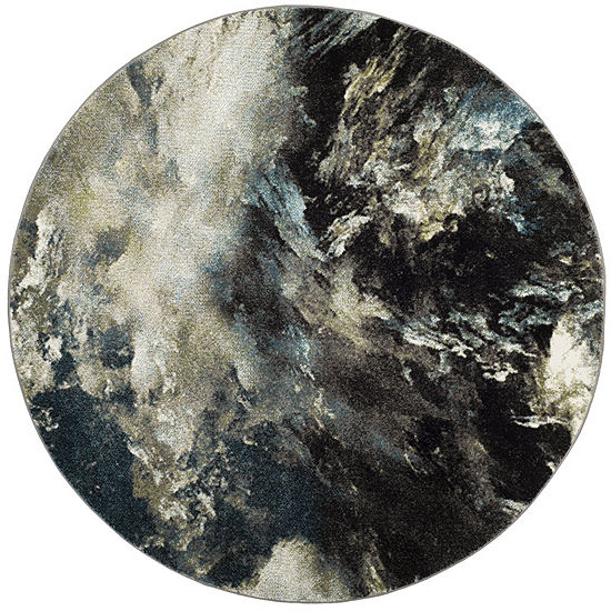 Safavieh Glacier Collection Jessika Abstract Round Area Rug
