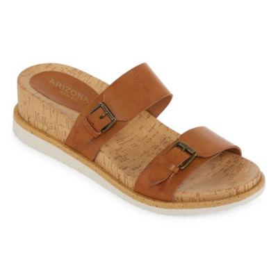 Arizona Womens Maywood Wedge Sandals