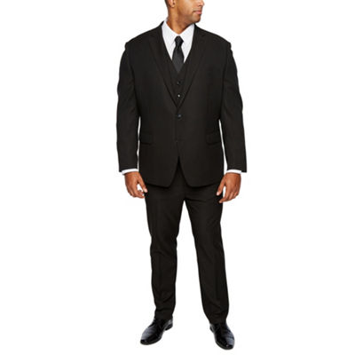 Shaquille O'Neal XLG Black Stretch Suit Big & Tall