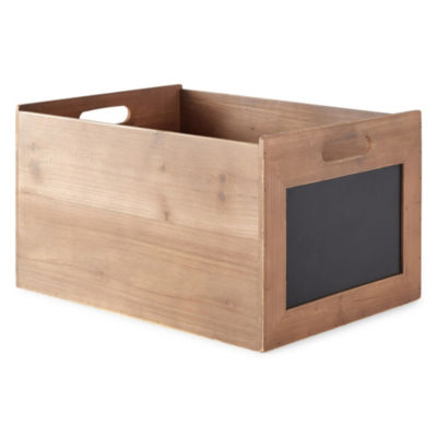 JCPenney Home 9in Crate Decorative Box