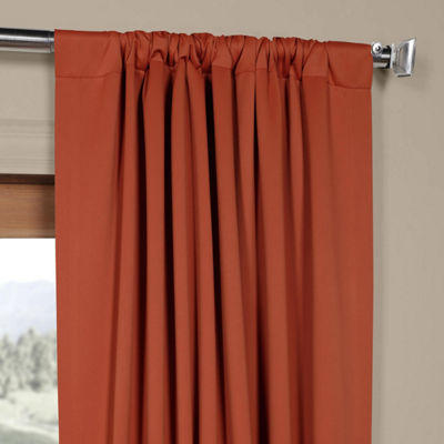 Exclusive Fabrics & Furnishing Blackout Rod-Pocket/Back-Tab Curtain Panel