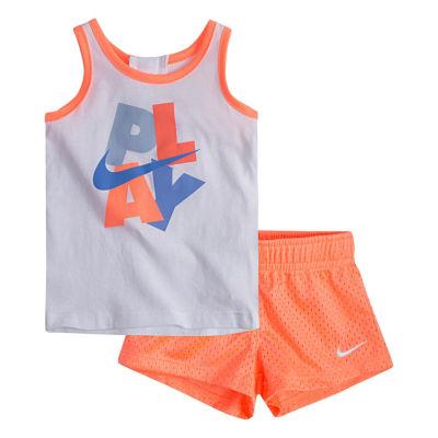 Nike Baby Sets 2-pc. Short Set Girls