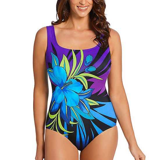 a0769cd6c7 Robby Len By Longitude Floral One Piece Swimsuit JCPenney