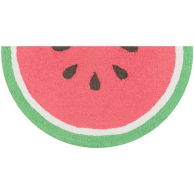 Novogratz By Momeni Cucina Watermelon Hooked Wedge Indoor Accent Rug