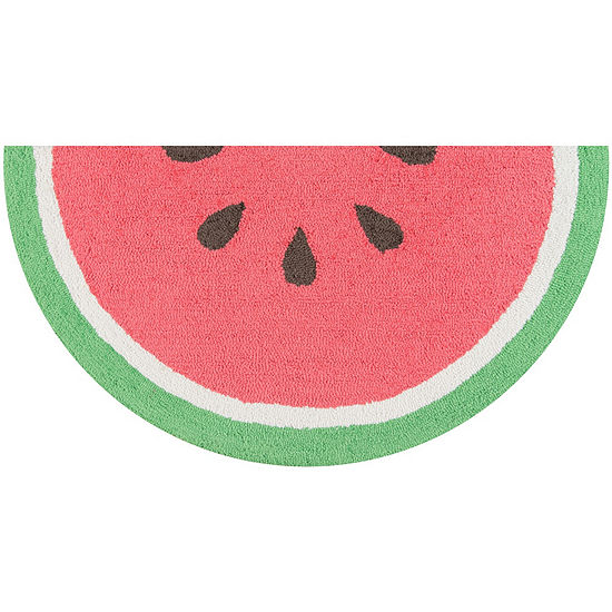 Novogratz By Momeni Cucina Watermelon Hooked Wedge Indoor Rugs