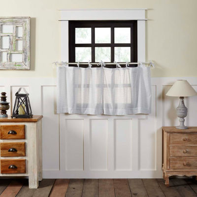 Farmhouse Window Nora Tie Top Tier Pair
