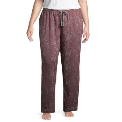 Ambrielle Woven Pajama Pants-Plus