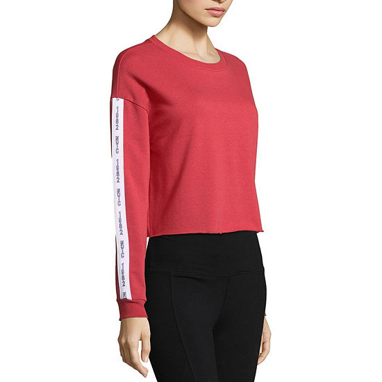 Flirtitude Womens Round Neck Long Sleeve Sweatshirt Juniors