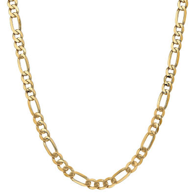 14K Gold Solid Figaro 26 Inch Chain Necklace