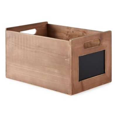 JCPenney Home 7-Inch Decorative Wooden Crate