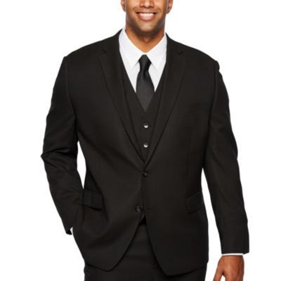 Shaquille O'Neal XLG Black Stretch Suit Jacket - Big and Tall