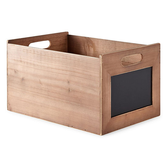JCPenney Home 8-Inch Decorative Wooden Crate