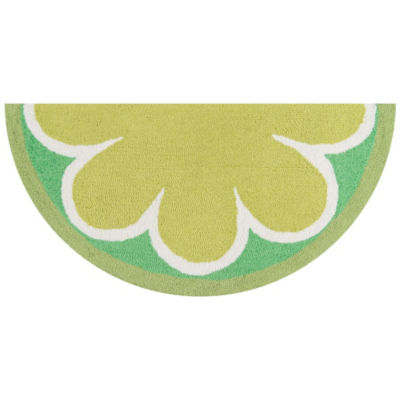 Novogratz By Momeni Cucina Lime Hooked Wedge Indoor Accent Rug