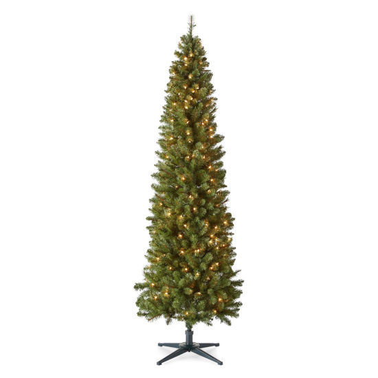 North Pole Trading Co. 7 Foot Dresden Slim Pre-Lit Christmas Tree