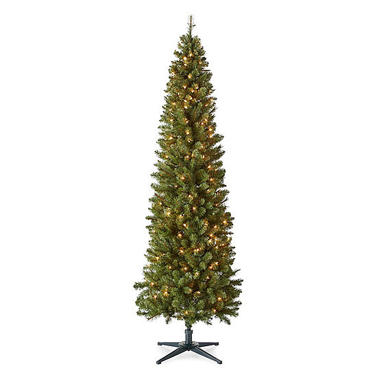 North Pole Trading Co 7 Foot Dresden Slim Pre Lit Christmas Tree ...