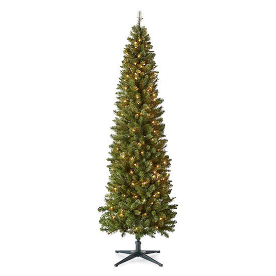 7 Foot Dresden Slim Pre-Lit Christmas Tree - North Pole Trading Co 7 Foot Dresden Slim Pre Lit Christmas Tree