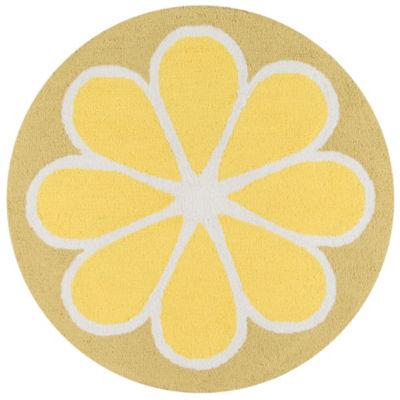 Novogratz By Momeni Cucina Lemon Hooked Round Rugs