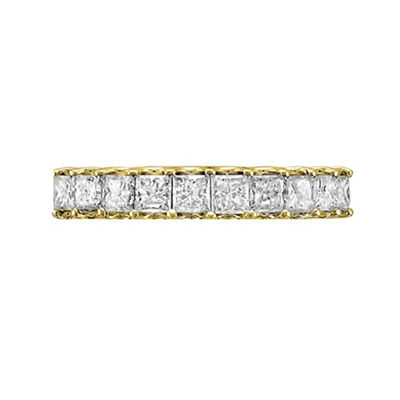 Womens 2mm 1 CT. T.W. White Diamond 14K Gold Wedding Band