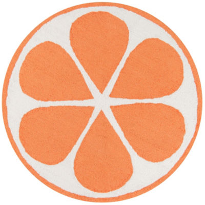 Novogratz By Momeni Cucina Orange Hooked Round Rugs