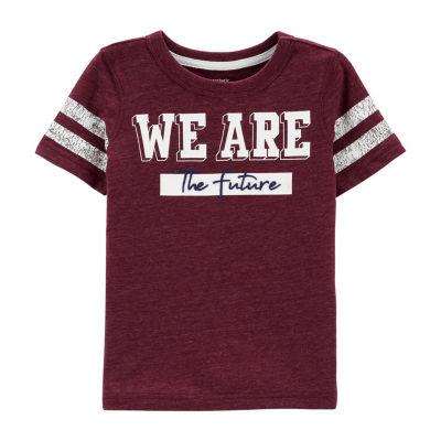 Carter's Short Sleeve Round Neck T-Shirt-Toddler Boys