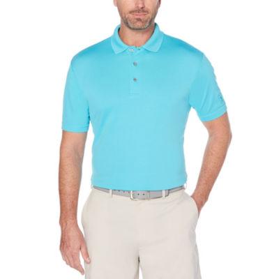 PGA TOUR Easy Care Short Sleeve Mesh Polo Shirt