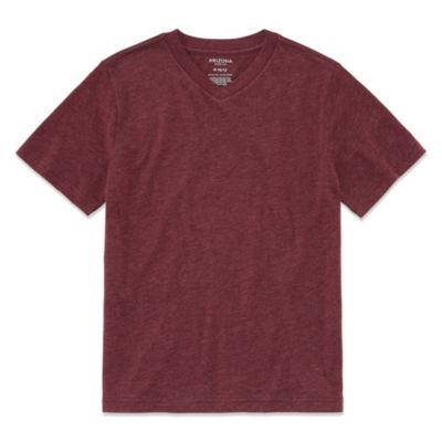 Arizona Short Sleeve V Neck T-Shirt Boys 4-20