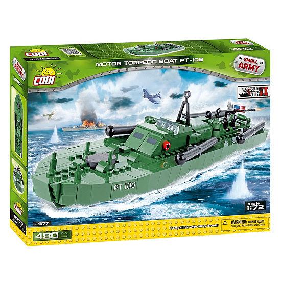 Cobi Small Army World War Ii Motor Torpedo Boat Pt-109 480 Piece Construction Blocks Building Kit