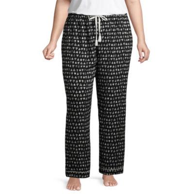 Ambrielle Poplin Pajama Pants-Plus