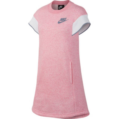 Nike Short Sleeve Cap Sleeve A-Line Dress - Big Kid Girls