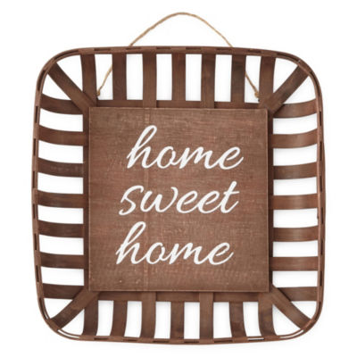 JCPenney Home LG Basket Home Sweet Home Tabletop Decor