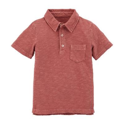 Carter's Short Sleeve Collar Neck T-Shirt-Toddler Boys
