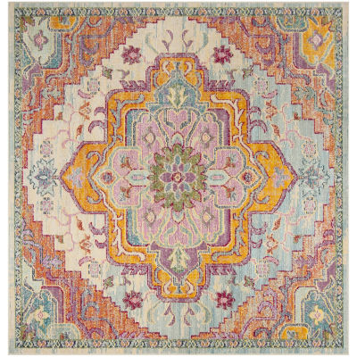 Safavieh Crystal Collection Jermaine Oriental Square Area Rug