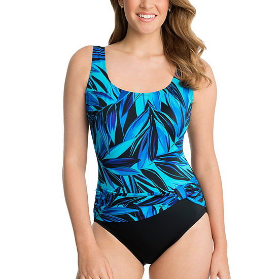 ee9ec59a387 Robby Len By Longitude Leaf One Piece Swimsuit JCPenney