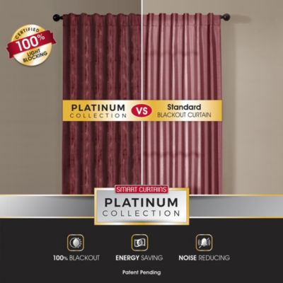 Platinum Smart Curtains Carlton Blackout Back-Tab Curtain Panel