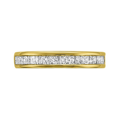 Womens 3.5mm 1 CT. T.W. White Diamond 14K Gold Wedding Band