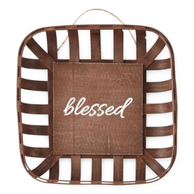 JCPenney Home Small Basket Blessed Tabletop Decor