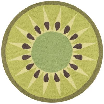 Novogratz By Momeni Cucina Kiwi Hooked Round Rugs