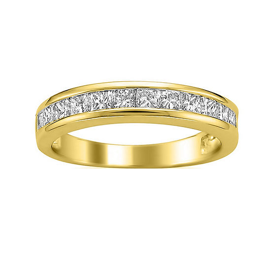 Womens 3.5MM 1 CT. T.W. Genuine White Diamond 14K Gold Wedding Band