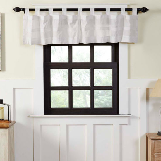 Farmhouse Window Quinn Tab Top Valance