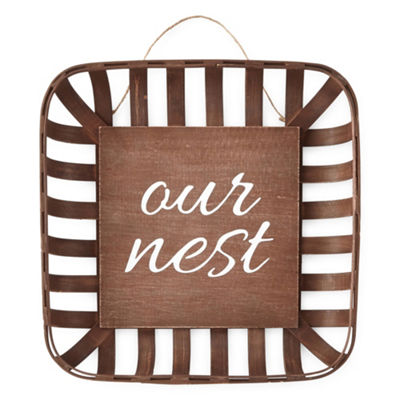 JCPenney Home Medium Basket Our Nest Tabletop Decor