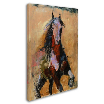 Trademark Fine Art Masters Fine Art Golden Horse Giclee Canvas Art