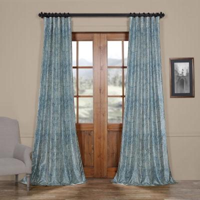 Exclusive Fabrics & Furnishing Wilton Faux Silk Taffeta Blackout Rod-Pocket/Back-Tab Curtain Panel