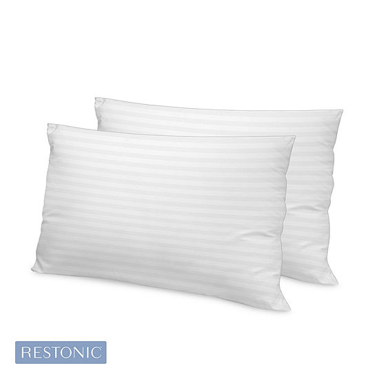 Restonic Memory Fiber Pillow 2-Pack with Tencel Lyocell Cover