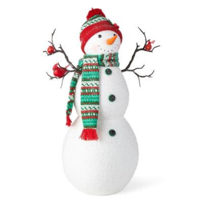 North Pole Trading Co. 24 Inch Handmade Snowman Figurine