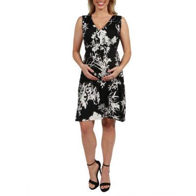 24Seven Comfort Apparel Marilyn Sleeveless Maternity Dress